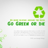 Go Green Poster by Karissa Cole