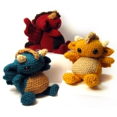Amigurumi Dragon Trio by Karissa Cole